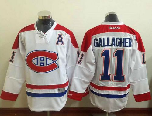 new product 8f6a4 ca778 Canadiens #11 Brendan Gallagher White Stitched NHL Jersey ...